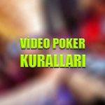 Video poker kuralları