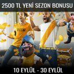 Trbet 2500 TL yeni sezon bonusu
